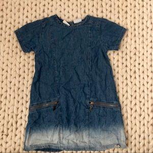 Kardashian Kids Dresses - Ombré Chambray Dress With Zipper Detail